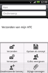 HTC A6262 Hero - E-mail - hoe te versturen - Stap 7