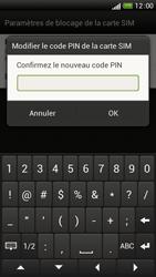 HTC One S - Sécuriser votre mobile - Personnaliser le code PIN de votre carte SIM - Étape 9