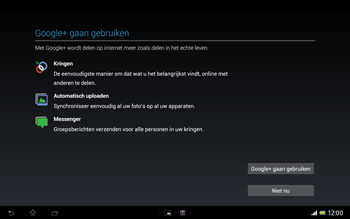 Sony SGP321 Xperia Tablet Z LTE - Applicaties - Account aanmaken - Stap 18