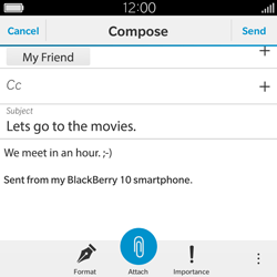 BlackBerry Classic - Email - Sending an email message - Step 12