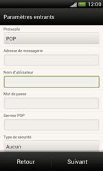 HTC T328e Desire X - E-mail - Configuration manuelle - Étape 10