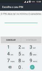 """Alcatel Pixi 4 (4"""") - Segurança - Como ativar o código de bloqueio do ecrã -  7"""