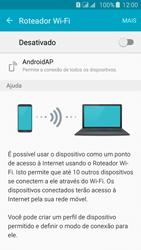 Samsung Galaxy J5 - Wi-Fi - Como usar seu aparelho como um roteador de rede wi-fi - Etapa 5