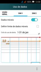 Huawei Y3 - Rede móvel - Como ativar e desativar uma rede de dados - Etapa 5