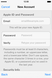 Apple iPhone 4 S iOS 7 - Applications - Create an account - Step 12