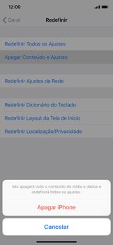 Apple iPhone X - iOS 12 - Funções básicas - Como restaurar as configurações originais do seu aparelho - Etapa 6