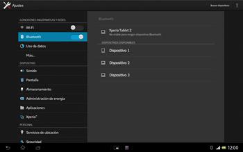 Sony Xperia Tablet Z - Bluetooth - Conectar dispositivos a través de Bluetooth - Paso 6