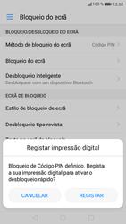 Huawei P9 Lite - Android Nougat - Segurança - Como ativar o código de bloqueio do ecrã -  10