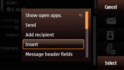 Nokia N97 Mini - Email - Sending an email message - Step 11