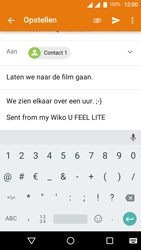 Wiko U-Feel Lite - E-mail - Hoe te versturen - Stap 9