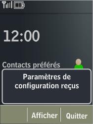 Nokia X3-02 - MMS - Configuration automatique - Étape 3