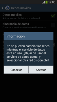 Samsung Galaxy Note 3 - Red - Seleccionar el tipo de red - Paso 8