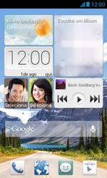 Huawei Y340 - Rede móvel - Como ativar e desativar uma rede de dados - Etapa 1