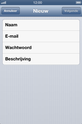 Apple iPhone 4 met iOS 6 - E-mail - e-mail instellen: POP3 - Stap 7