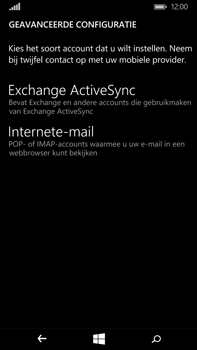 Microsoft Lumia 640 XL - E-mail - Account instellen (POP3 zonder SMTP-verificatie) - Stap 9