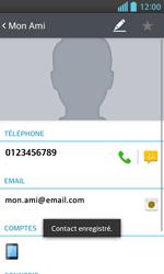 LG Optimus L5 II - Contact, Appels, SMS/MMS - Ajouter un contact - Étape 11