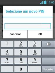 LG L1 II - Segurança - Como trocar o código PIN do seu celular - Etapa 8