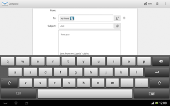 Sony SGP321 Xperia Tablet Z LTE - Email - Sending an email message - Step 10