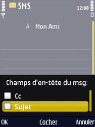 Nokia N86 - MMS - Envoi d