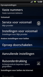 Sony Ericsson Xperia Neo - Voicemail - handmatig instellen - Stap 6