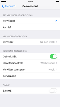 Apple iPhone 6 Plus iOS 10 - E-mail - Account instellen (POP3 zonder SMTP-verificatie) - Stap 23
