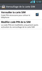 LG Optimus L5 II - Sécuriser votre mobile - Personnaliser le code PIN de votre carte SIM - Étape 5