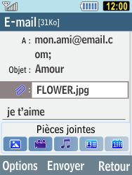 Samsung C3590 - E-mails - Envoyer un e-mail - Étape 10