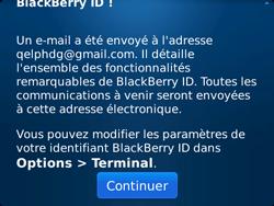 BlackBerry 9720 Bold - BlackBerry activation - BlackBerry ID activation - Étape 14