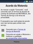 Motorola Master XT605 - Primeiros passos - Como ativar seu aparelho - Etapa 8