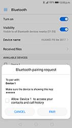 Huawei P8 Lite 2017 - WiFi and Bluetooth - Setup Blue Tooth Pairing - Step 6