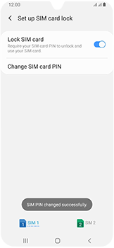 Samsung Galaxy A40 - Security - Set the PIN code for your SIM card - Step 12