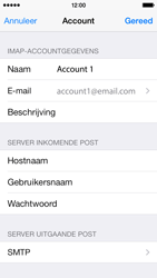 Apple iPhone 5c iOS 8 - E-mail - Account instellen (IMAP zonder SMTP-verificatie) - Stap 18