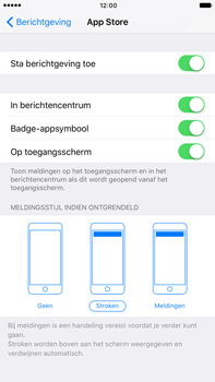 Apple Apple iPhone 6 Plus iOS 10 - iOS features - Bewerk meldingen - Stap 7