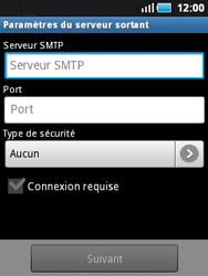 Samsung S5570 Galaxy Mini - E-mail - Configuration manuelle - Étape 10