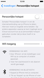 Apple iPhone 5s met iOS 10 (Model A1457) - WiFi - Mobiele hotspot instellen - Stap 6
