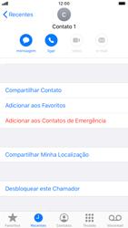 Apple iPhone 7 - iOS 13 - Chamadas - Como bloquear chamadas de um número específico - Etapa 7