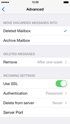 Apple iPhone 5 iOS 7 - E-mail - Manual configuration - Step 21