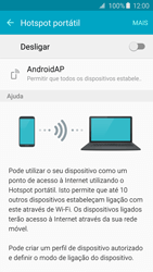Samsung Galaxy S6 Edge - Internet no telemóvel - Como partilhar os dados móveis -  6