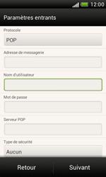 HTC T328e Desire X - E-mail - Configuration manuelle - Étape 9