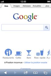 Apple iPhone 4 - iOS 6 - Internet - navigation sur Internet - Étape 4