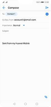 Huawei P20 Lite - Email - Sending an email message - Step 7