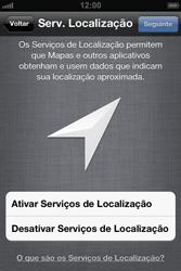 Apple iPhone iOS 5 - Primeiros passos - Como ativar seu aparelho - Etapa 8
