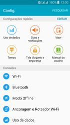 Samsung Galaxy J3 Duos - Rede móvel - Como ativar e desativar o modo avião no seu aparelho - Etapa 4