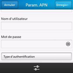 BlackBerry Q10 - Internet - configuration manuelle - Étape 11