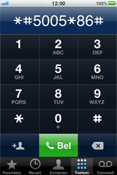 Apple iPhone 4 - Voicemail - handmatig instellen - Stap 4