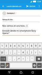Sony Xperia M4 Aqua - E-mail - Escribir y enviar un correo electrónico - Paso 9