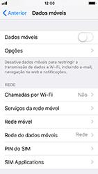Apple iPhone 5s - iOS 12 - Internet no telemóvel - Como ativar os dados móveis -  4