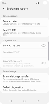 Samsung Galaxy S10 - Data - Create a backup with your account - Step 6