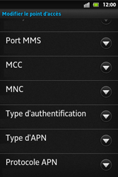 Sony ST27i Xperia Go - MMS - configuration manuelle - Étape 14