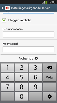 Samsung N9005 Galaxy Note III LTE - E-mail - Account instellen (IMAP zonder SMTP-verificatie) - Stap 13